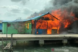 Rumah warga Teluk Kriting terbakar