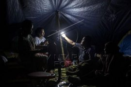 Pengungsi korban gempa bumi Sulawesi Barat