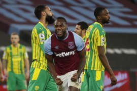 Antonio bawa West Ham menang 2-1 atas West Brom