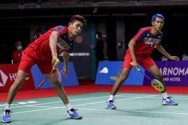 Fajar/Rian mengakui tertekan kalah di babak pertama Thailand Open II