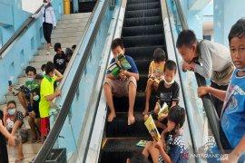 Terminal pun jadi tempat mengungsi korban banjir di Banjarmasin-Kalimantan Selatan