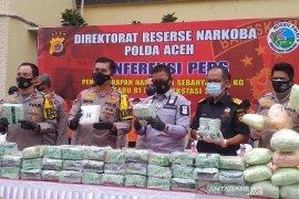 Polres Aceh Tamiang gagalkan peredaran dua kilogram sabu