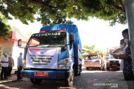 Pemkab Bantaeng salurkan enam truk bantuan pangan untuk Sulbar