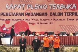 KPU Makassar tetapkan pasangan wali kota terpilih Danny-Fatma