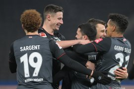 Werder Bremen menaklukkan Hertha Berlin 4-1