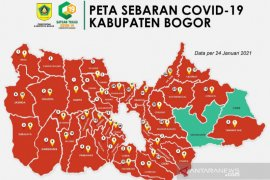 Kabupaten Bogor kembali terdapat zona hijau, setelah hampir sepekan merah