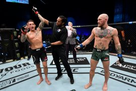 Dustin Poirier KO Conor McGregor saat laga UFC