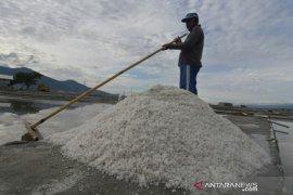 Petani kesulitan produksi garam akibat cuaca
