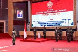 Panglima TNI terima laporan kenaikan pangkat 22 Pati