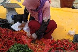 Harga berbagai jenis cabai di pasar Abepura turun