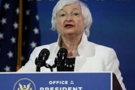 Senat Amerika Serikat sebagian besar setujui tunjuk Yellen sebagai menkeu wanita pertama