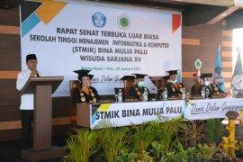 Wagub Sulteng  minta alumni STIMIK Bina Mulia tidak berharap jadi PNS