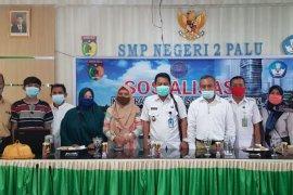 BNN Kota Palu sosialisasi narkoba di SMP Negeri 2 Palu