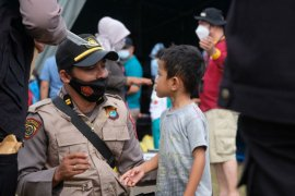 Tim trauma healing Polri pendampingan anak korban gempa Sulbar