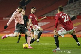 Sheffield United jegal ambisi Manchester United kembali ke puncak klasemen Liga Inggris