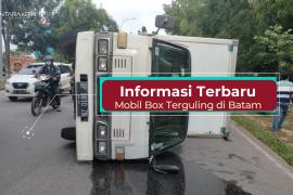 Info terkini: mobil box terguling di Batam