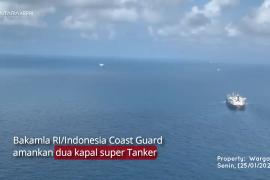 Info terkini: Bakamla tangkap dua kapal tanker