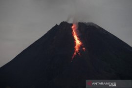 Mount Merapi spews hot lava for 10 times