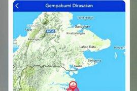 Gempa magnitudo 4,4 goncang Kaltara