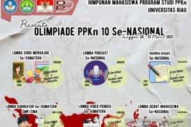 Olimpiade PPKn UNRI ke-10 digelar 26-31 Maret secara daring, ini perlombaannya
