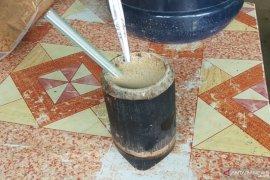 Mereguk kesegaran  niro talua,  minuman khas  Andaleh Baruah Bukik Tanah Datar