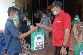 YVB Inhil salurkan bantuan untuk anak yatim di Kecamatan Keritang