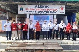 PMI Sulbar salurkan bantuan PT Ajinomoto Indonesia untuk korban gempa