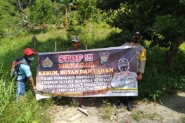 Polsek Tambelan sosialisasi pencegahan karhutla di Desa Melayu