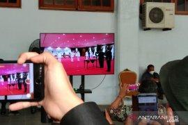 Gubernur Sulawesi Tenggara lantik tiga bupati terpilih terapkan prokes ketat