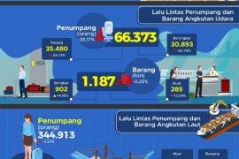 Penumpang angkutan udara di Sultra selama Januari turun 33.17 persen