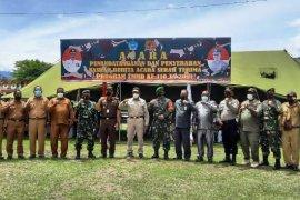TMMD ke-110  wilayah Kodam XVII/Cenderawasih total bangun 10 unit rumah dan satu barak
