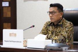 Presiden Joko Widodo apresiasi kerja keras penanganan pandemi