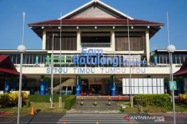 Penumpang angkutan udara di Sulawesi Utara turun 61,8 persen