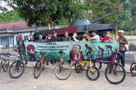 """Cegah penularan COVID-19, PN Tanjungkarang-Brigif 4 Mar/BS \""""gowes\"""" sepeda bersama"""