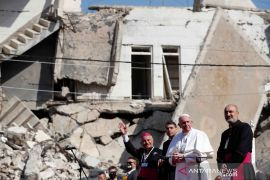 Paus Fransiskus tiba di Mosul Irak utara