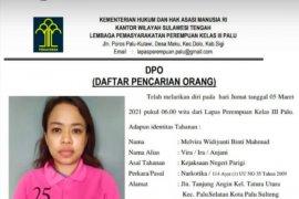 Seorang tahanan wanita kasus narkoba di Lapas Perempuan Palu  kabur