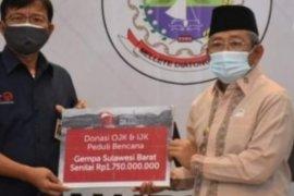 OJK bantu korban gempa Sulbar Rp1,75 miliar