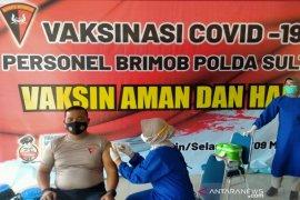 Sebanyak 487 personel Polda Sulawesi Tenggara jalani vaksinasi COVID-19