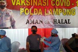Kapolda Lampung tinjau pelaksanaan vaksinasi COVID-19