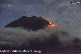 Gunung Merapi meluncurkan awan panas guguran sejauh 1,3 km