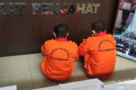 Polisi tangkap dua orang bawa tiga kilogram  sabu di Palembang