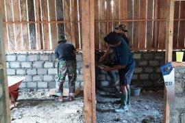 Satgas TMMD bersama warga Ibele kerjakan sasaran fisik dan non fisik