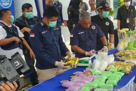 BNN Sumsel musnahkan  barang bukti 3 kg sabu-sabu