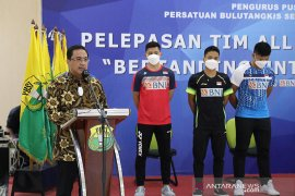 Ketua umum PBSI semangati timnas Indonesia di All England
