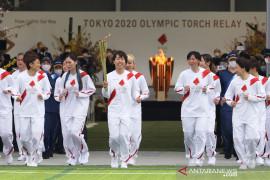 Kirab obor Olimpiade Tokyo di Osaka berlangsung di taman tanpa penonton