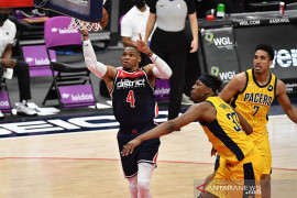 NBA : Russell Westbrook cetak triple double bawa Wizard kalahkan Pacers