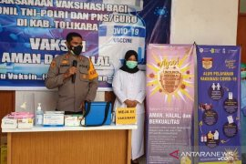 50 anggota Polres Tolikara divaksin COVID-19