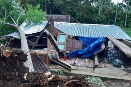 Angin kencang akibatkan pohon tumbang dan menimpa sejumlah rumah di Tanah Datar