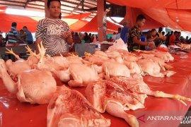 Harga telur dan daging ayam ras naik pada hari pertama Ramadhan 1442 H