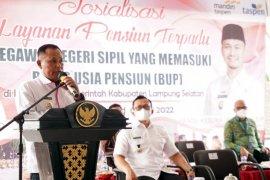 Bupati Lampung Selatan buka sosialisasi layanan pensiun terpadu